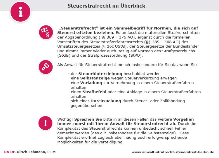 Steuerstrafrecht Anwalt Berlin
