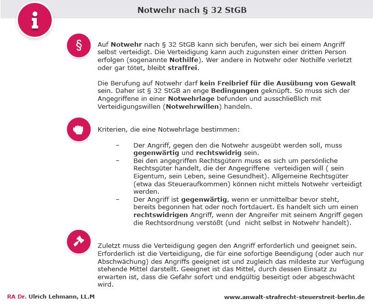 Infobox Notwehr 32 Stgb