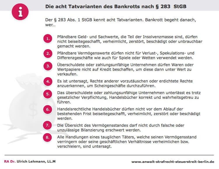 Infobox Acht Tatvarianten Bankrott